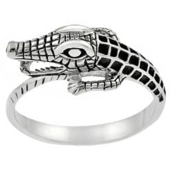Tressa Sterling Silver Men's Alligator Ring
