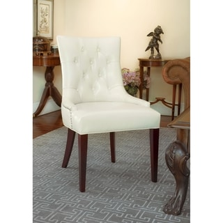 Safavieh Nimes Cream Leather Side Chair