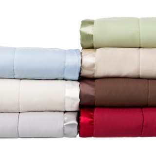 Solid Colored Microfiber Down Alternative Blanket