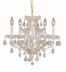 Maria Theresa 5-light Gold/ Crystal Chandelier