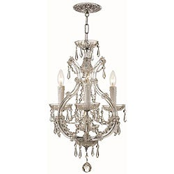 Maria Theresa 3-light Polished Chrome Mini Chandelier