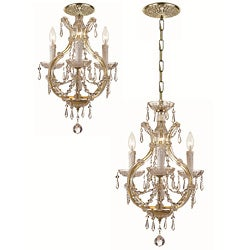 Maria Theresa 3-light Gold Mini Chandelier
