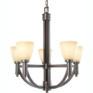 Indoor 5-light Golden Taupe Bronze Chandelier