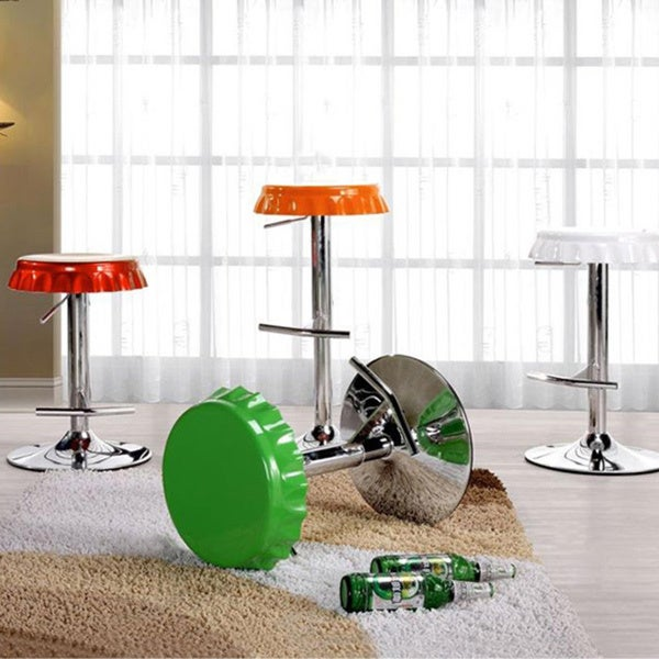 Soda Cap Adjustable Metal Stool