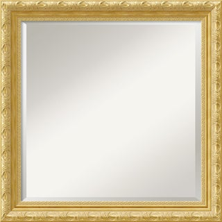 Versailles Gold Champagne Square Wall Mirror