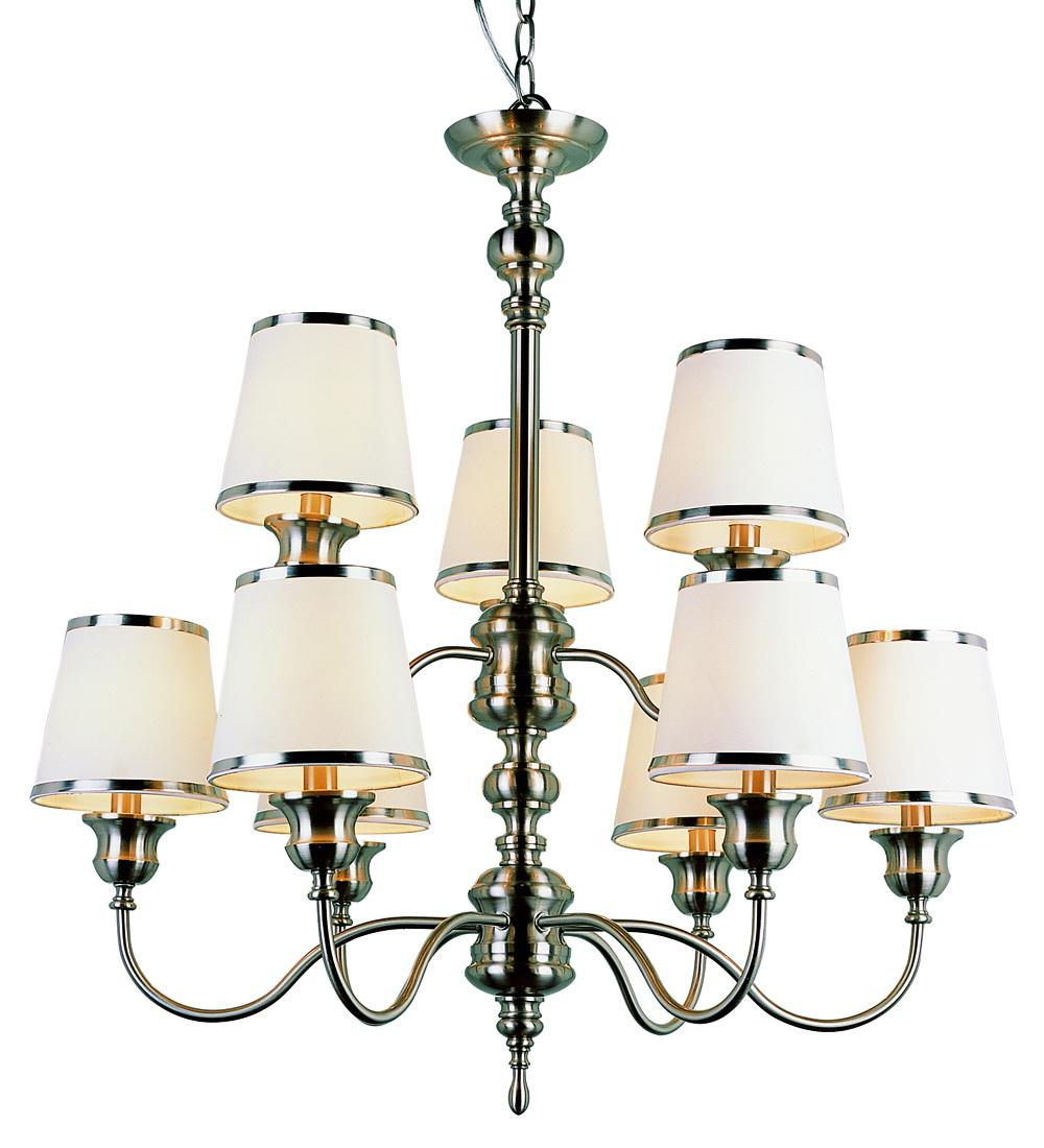 Trans Glove 9-light Modern Meets Traditional Arm Chandelier