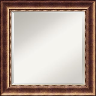 Manhattan Burnished Bronze Square Wall Mirror