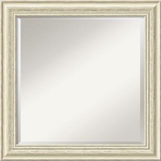 Country Whitewash Square Wall Mirror