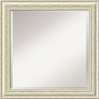 Country Whitewash 24-inch Square Wall Mirror