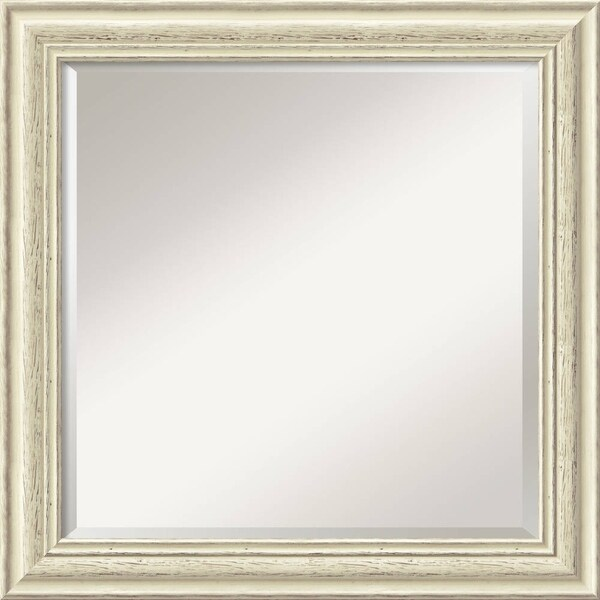 Wall Mirror Square, Country White Wash 25 x 25-inch 7167862