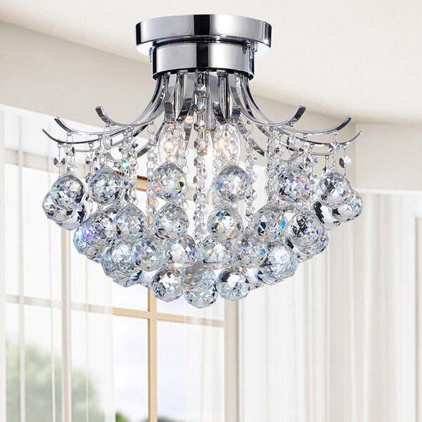 Indoor 3-light Chrome/ Crystal Chandelier