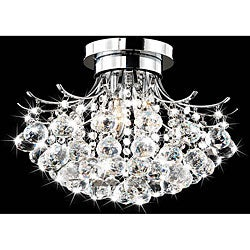 Indoor 3-light Chrome/ Crystal Chandelier