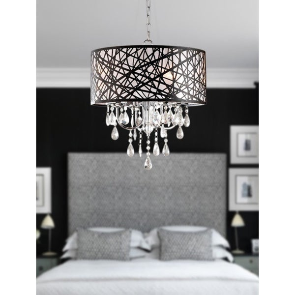 Indoor 4-light Chrome Antique Bronze Chandelier - 13066392 - Overstock ...