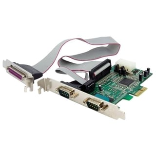 StarTech.com 2S1P Native PCI Express Parallel Serial Combo Card with