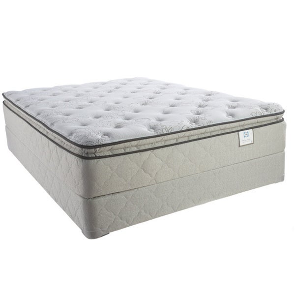Sealy Brand Moonstruck Plush Euro Pillowtop California King-size Mattress Set