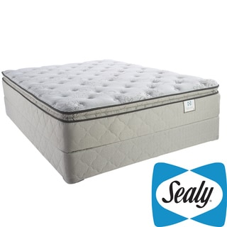 Sealy Brand Moonstruck Plush Euro Pillowtop Twin-size Mattress Set