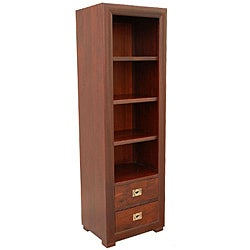 Mango Wood Light Mahogany Bookcase (India)