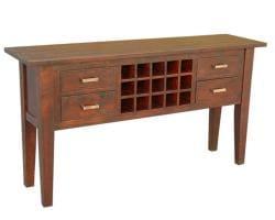 Mango Wood Light Mahogany Console Table (India)