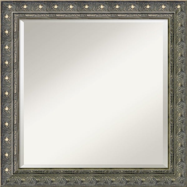 Barcelona Champagne Gold Square Wall Mirror