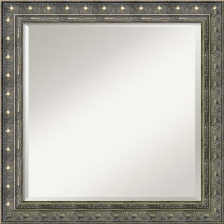 Barcelona Pewter Square Wall Mirror