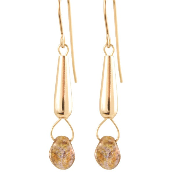 Gold Fill 'Falling Star' Glass Bead Earrings