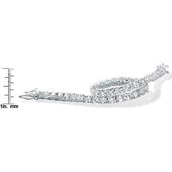 "PalmBeach 10.75 TCW Round Cubic Zirconia Tennis Bracelet in Sterling Silver 7 1/2"" Classic CZ"