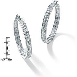 Ultimate CZ Sterling Silver Cubic Zirconia Hoop Earrings