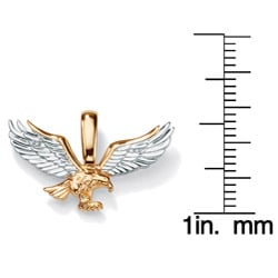 Neno Buscotti Men's Diamond Accent Tutone 10k Gold Eagle Pendant
