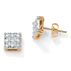 Isabella Collection 10k Gold 1/6ct TDW Diamond Earrings (H-I, I3)