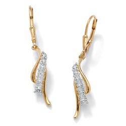 Isabella Collection 18k Gold over Silver Diamond Accent Earrings