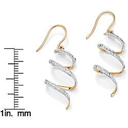 PalmBeach 10k Gold Diamond Accent Spiral Ribbon Earrings