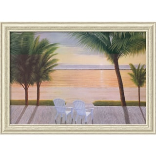 Diane Romanello 'Palm Bay Dreaming' Framed Art