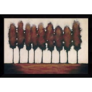 Rita Vindedzis 'Nine Trees' Framed Art