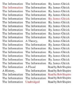 The Information: A History, A Theory, A Flood (CD-Audio)