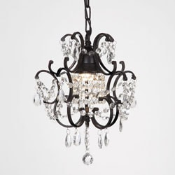 Versailles 1-light Black/ Crystal Mini Chandelier