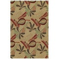 Home & Porch Tybee Linen Indoor/ Outdoor Rug (7'6 x 9')