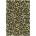 Home & Porch Wymberly Coffee Indoor/ Outdoor Rug (2' x 6')