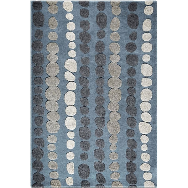 Hand Tufted Auspice Slate Blue Rug 5 X 8