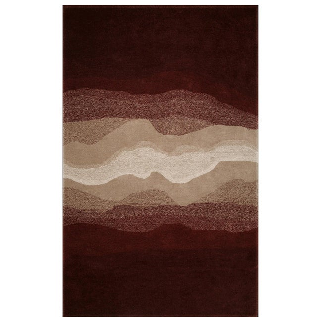 Hand-tufted Cosmos Rust/ Brown Rug (5' x 8')