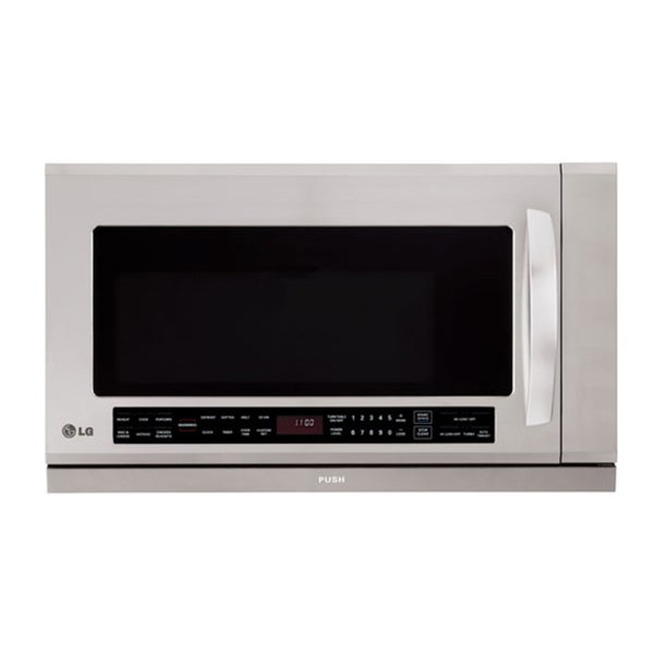 LG Stainless Steel Over-range 2-cu-ft 1100-watt Microwave