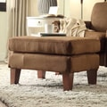 ETHAN HOME Uptown Mocha Microfiber Modern Ottoman