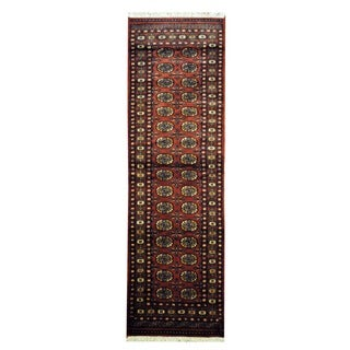 Pakistani Hand-knotted Rust/ Ivory Bokhara Wool Runner (2'7 x 8')
