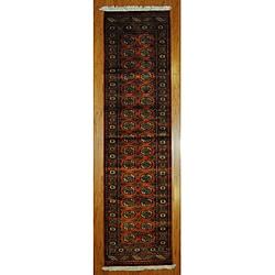 Pakistani Hand-knotted Rust/ Ivory Bokhara Wool Runner (2'6 x 10')