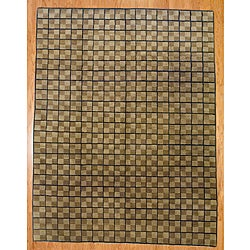 Nepalese Hand-knotted Beige/ Brown Tibetan-style Wool Rug (8' x 10')