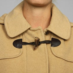 Larry Levine Petite Hooded Toggle Coat