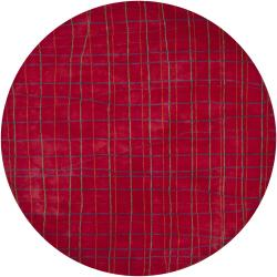 Hand-tufted Mandara Red New Zealand Wool Rug (7'9 Round)