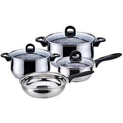 Guy fieri stainless steel 10 piece cookware set 15386505 for Abruzzo 12 piece cookware set from cuisine select