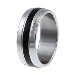 Kabella Men's Stainless-Steel Band Highly-Polished Ring