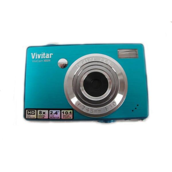Vivitar ViviCam X024 10.1MP Turquoise Digital Camera