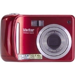 Vivitar ViviCam T324N 12.1 Megapixel Compact Camera - Strawberry